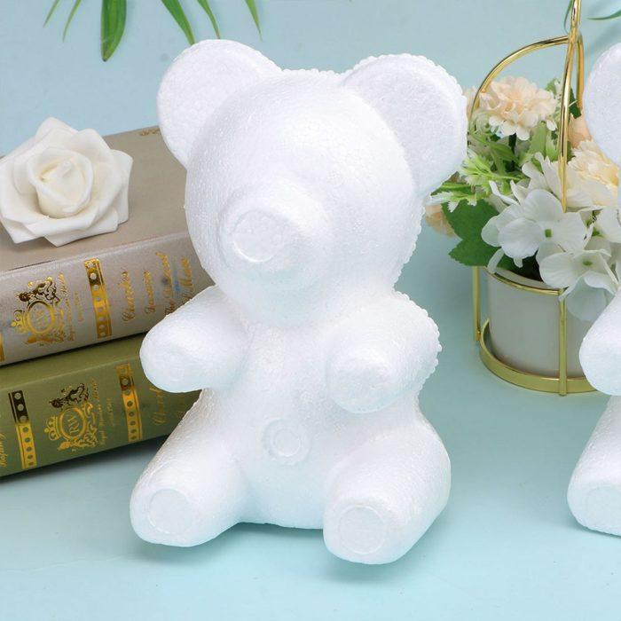 Foam Teddy Bears Flower Molds (3 Pcs)