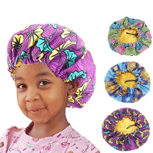 Kids Satin Bonnet Sleeping Cap