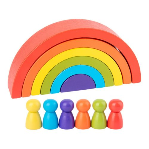 Wooden Rainbow Stacking Toy (12pcs)