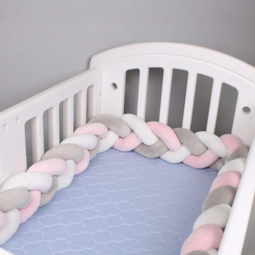 Braided Crib Bumper Baby Cushion