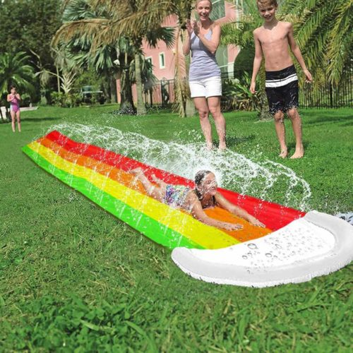 Water Slide Mat with Sprayers