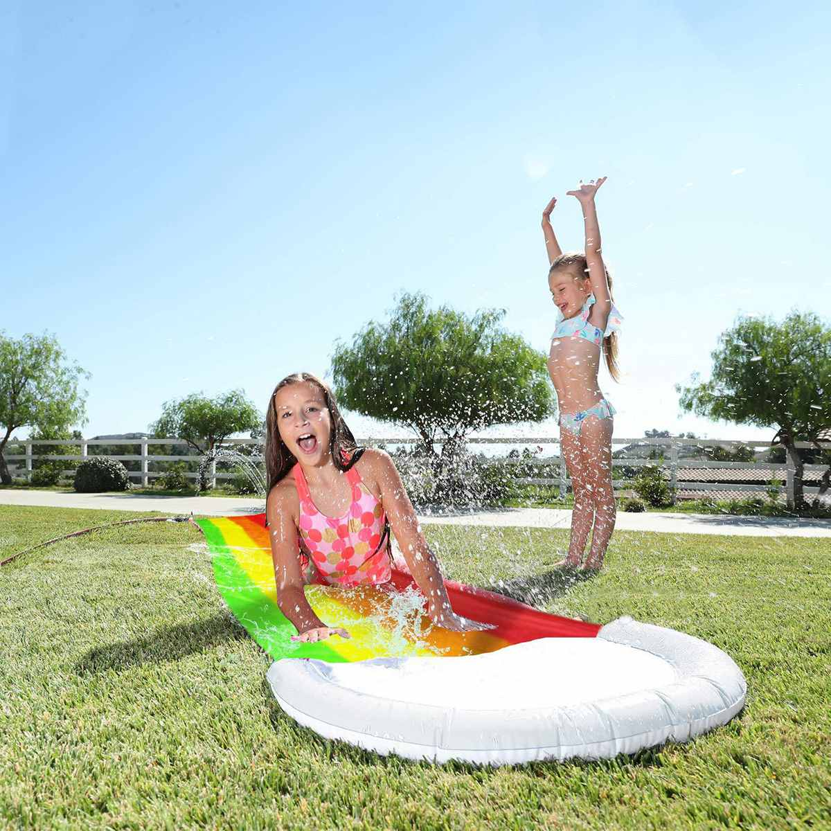 NEW Giant Surf Water Slide Fun Lawn Water Slides Pools For Kids Summer PVC Games Center Backyard Outdoor Children Adult Toys