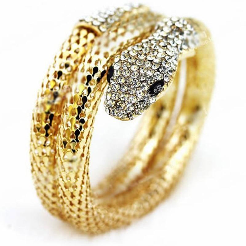 Snake bracelet punk exaggerated fashion full of rhinestone snake bracelet