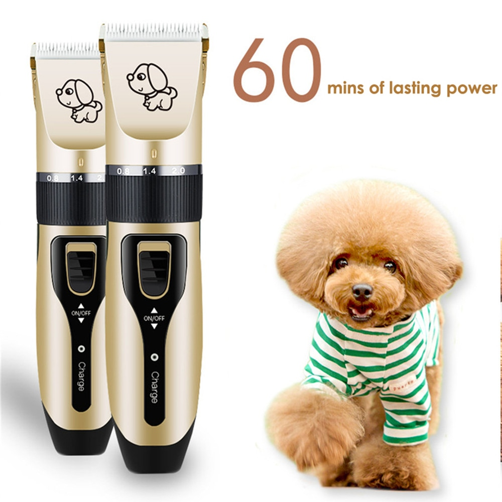Electrical Pet Clipper Professional Grooming Kit Rechargeable Pet Cat Dog Hair Trimmer Shaver Set Animals Hair Cutting Machine