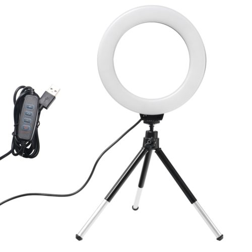 Mini LED Ring Lamp with Tripod