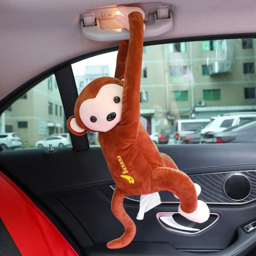 Monkey Tissue Holder Car Hanging Plush
