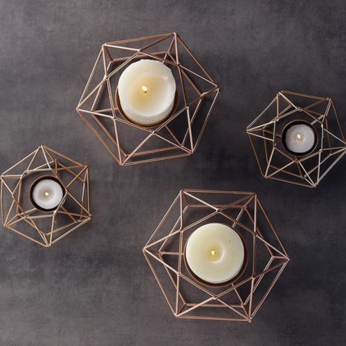 Geometric Candle Holder Home Decor