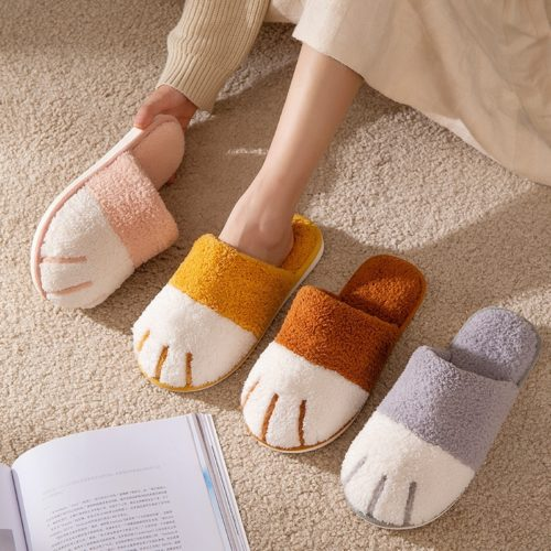 Cat Paw Slippers Cute Indoor Slippers