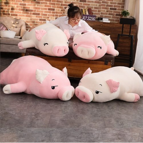 Pig Plush Toy Soft Pig Stuffed Animal Pillow