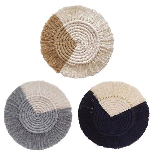 Macrame Coaster Woven Mini Mat