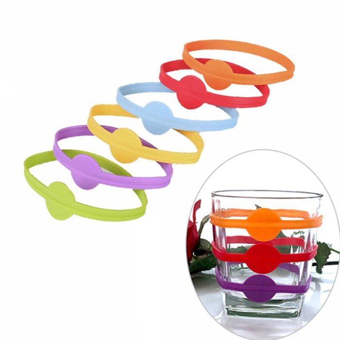 Drink Markers Silicone Rings (12pcs)