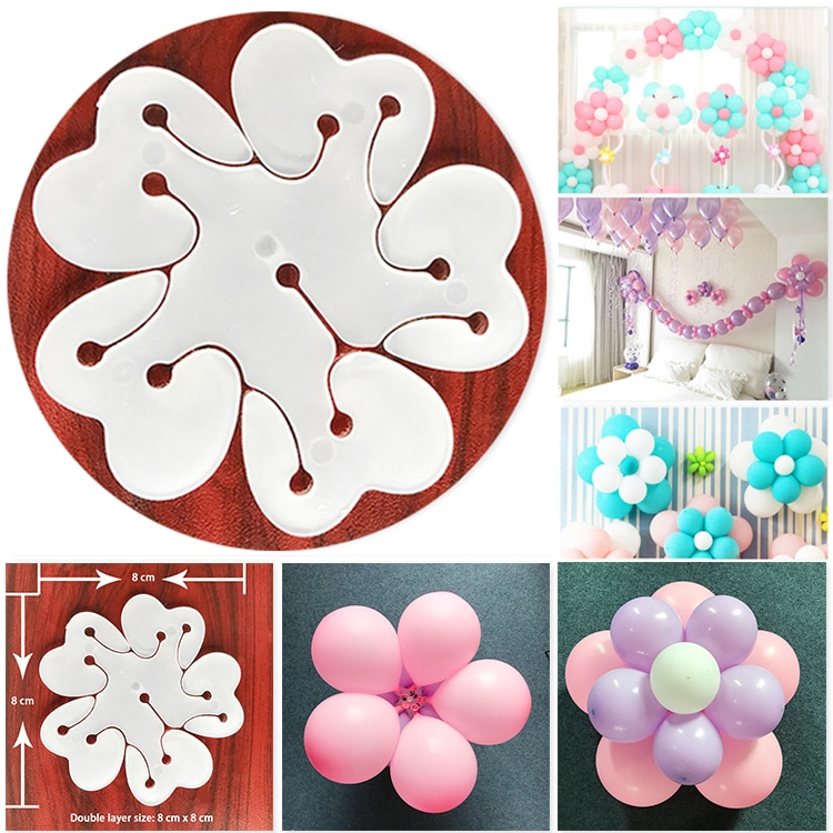 5pcs/lot Large flower-shaped plum flower clip balloon accessories plastic clip Globos wedding birthday party decoration supplies