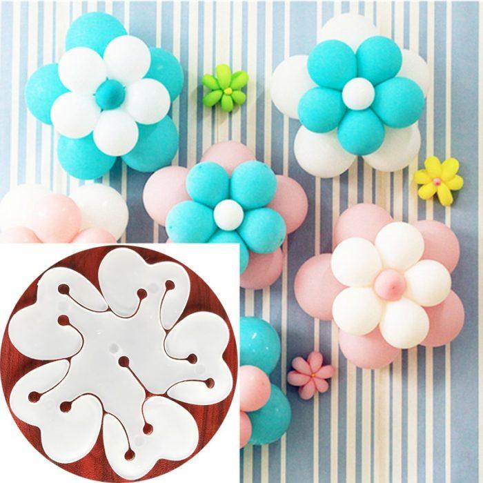 Plastic Flower Balloon Clips (5pcs)