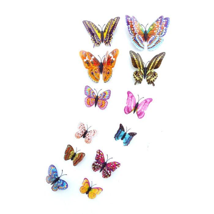 3D Butterfly Wall Decals (12pcs)