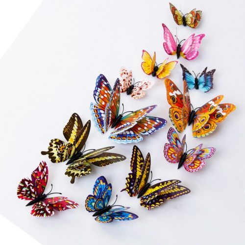 3D Butterfly Wall Decals (12pcs)