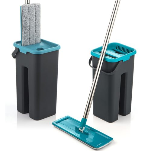 Flat Squeeze Mop And Bucket For Cleaning