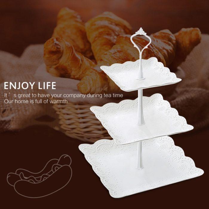 Plastic Tiered Dessert Tray Rack