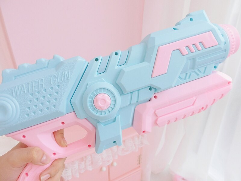 New Large Pull-out Pink Water Gun Toy Kids Beach Squirt Toy Swim Summer Pool Outdoor Kids Toy Party
