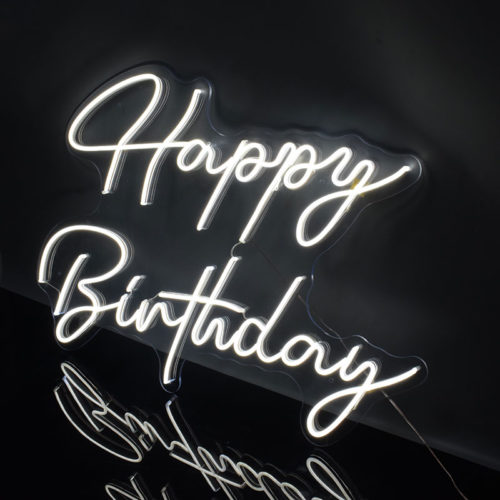 Happy Birthday LED Light Acrylic Sign