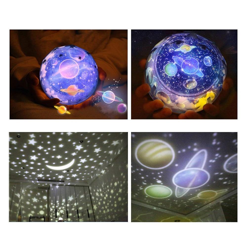 Star Night Light Sky Magic Star Moon Planet Projector Lamp Cosmos Universe Luminaria Baby Nursery Light For Birthday Gift