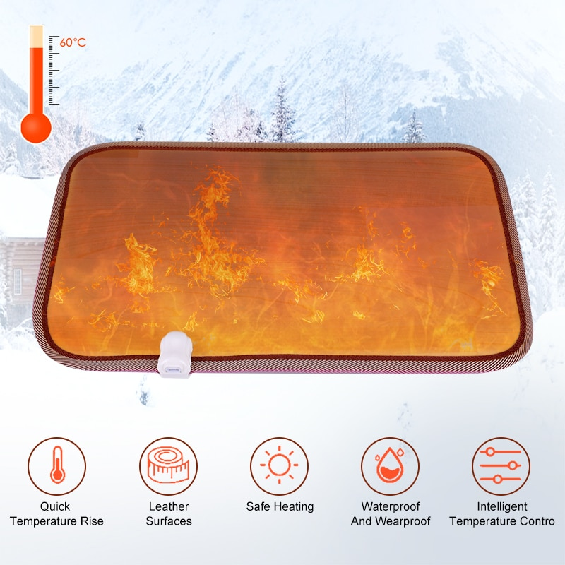 50*30cm Feet Warmer Plug Heating Mat Office Home Electric Winter Foot Heating Pad Thermostat Waterproof Warm Blanket