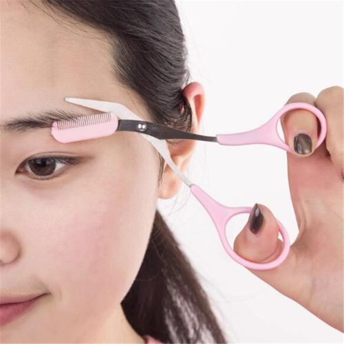 Brow Scissors Eyebrow Trimmer Tool