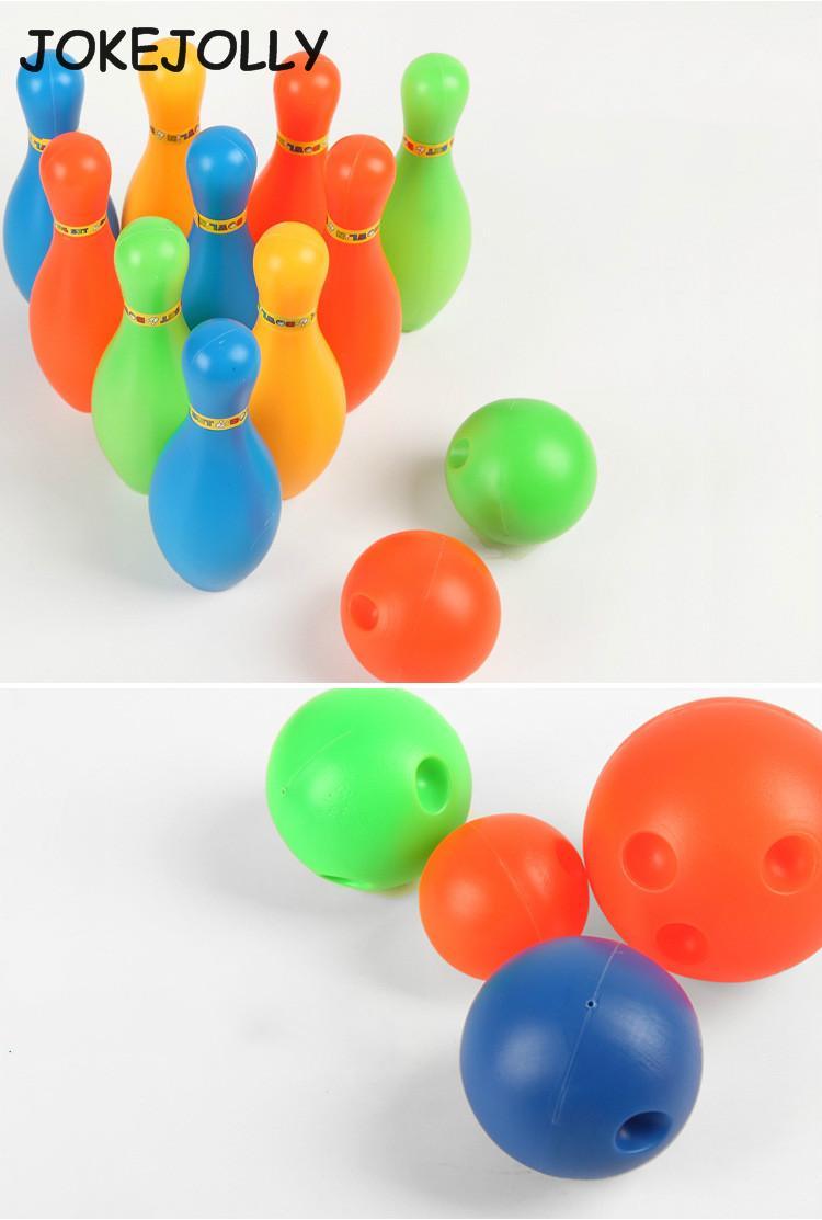 11CM height Bowling bottle set 5.5cm diameter Bowling ball Bowling set Children colorful sports toy GYH