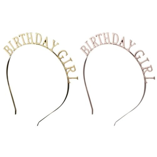 Birthday Girl Headband Metal Headwear