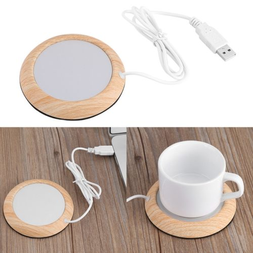 USB Cup Heater Wooden Warmer