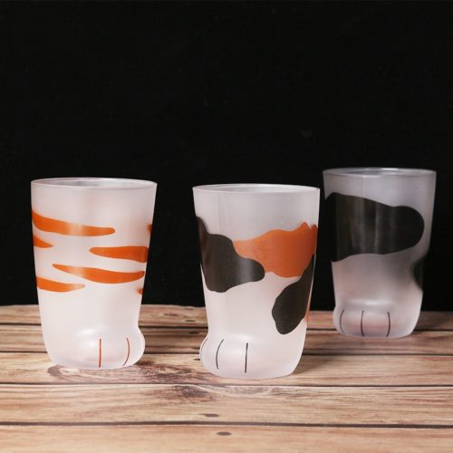 Cat Paw Cups Glass Cups (3pcs)