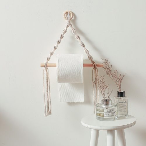Wall-Mount Rope Toilet Paper Holder