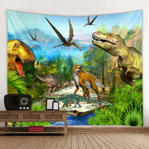 Dinosaur Tapestry Fabric Poster