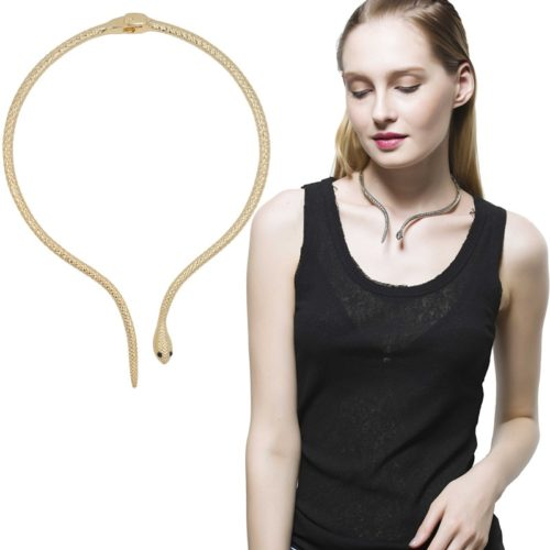 Snake Choker Necklace Fashion Accessory