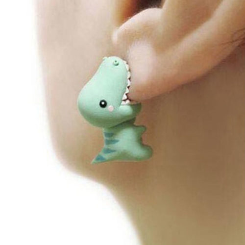 Dino Earrings Funny Fashion Accessory