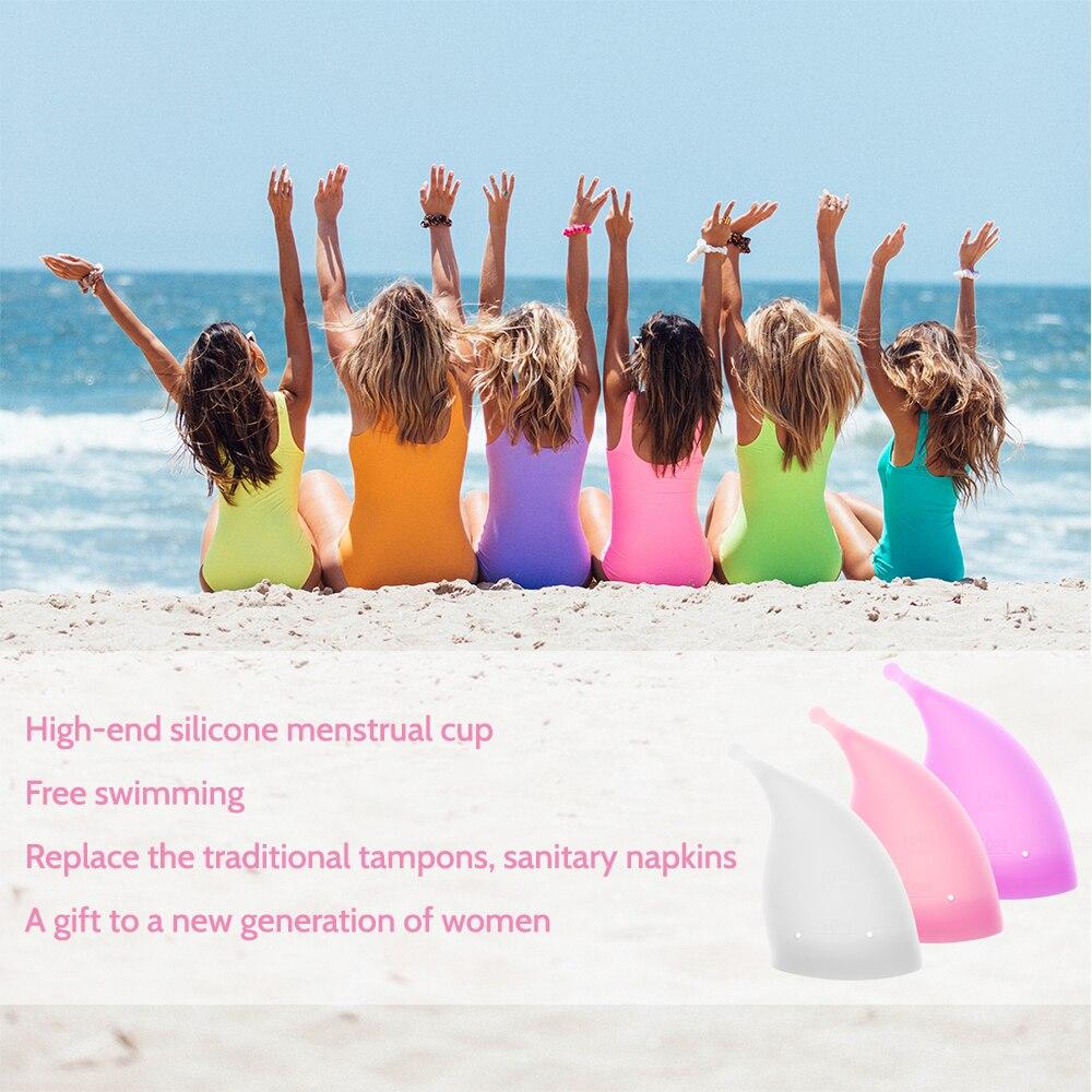 Women Menstrual Cup Period Cup Medical Grade Silicone Feminine Hygiene Copa Menstrual de Silicone Medica Reusable Menstrual Cup