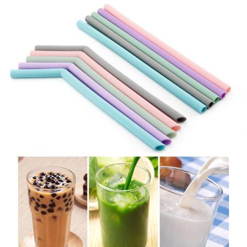 Reusable Silicone Straws Set (5 Pcs)