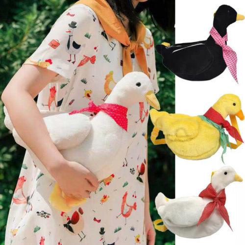 Duck Bag Cute Animal Sling Plush Purse