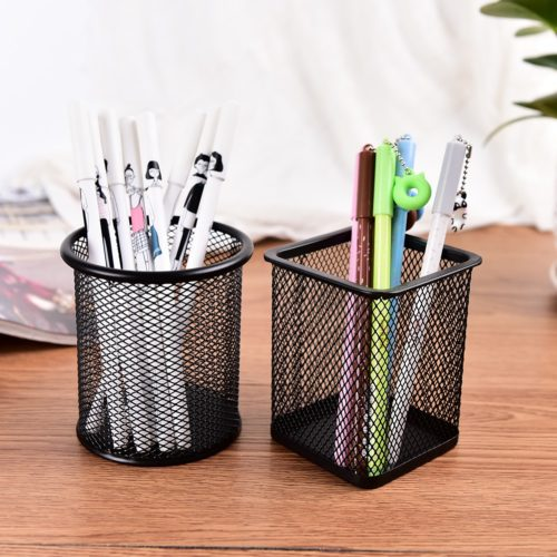 Metal Pencil Holder Mesh Organizer