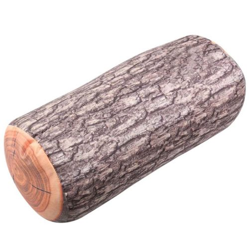 Wood Pillow Realistic Log Cushion
