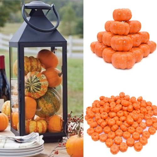 Fake Pumpkins Mini Artificial Decor