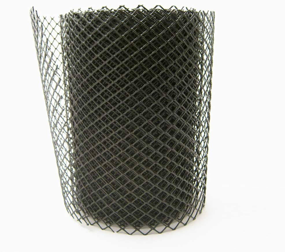 Gutter Guard Cover Flexible Drain Mesh Protector Roll for Rain Leaves Black home improvement, Wide 6 Inch×Length 20 Feet