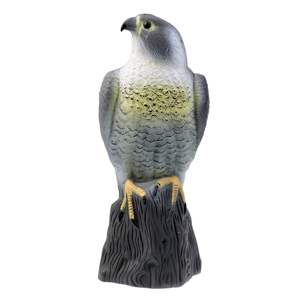 Lifelike Eagle Decoys Hawk Scarecrow with Bright Eyes - Home Garden Decoration Lawn Ornaments Tree Decor