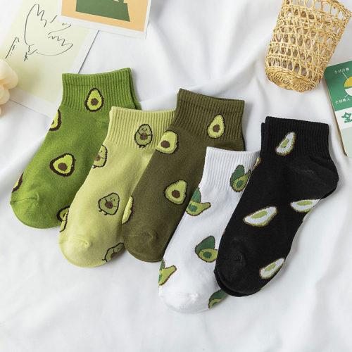 Avocado Socks Ankle-Cut Footwear
