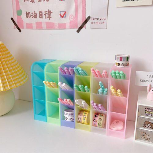 Plastic Holder Desk Pen Organizer