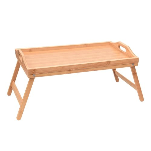 Bed Tray with Legs Wood Serving Board