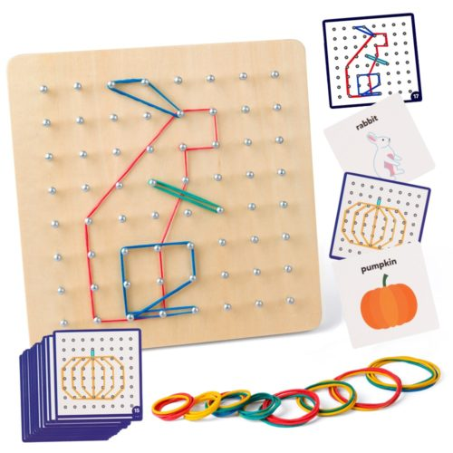 Wooden Geoboard Educational Set