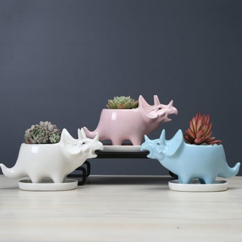 Dino Planter Ceramic Succulent Pot