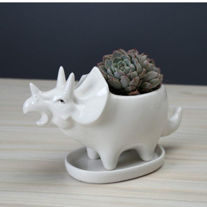 Dino Planter Ceramic Succulent Pot
