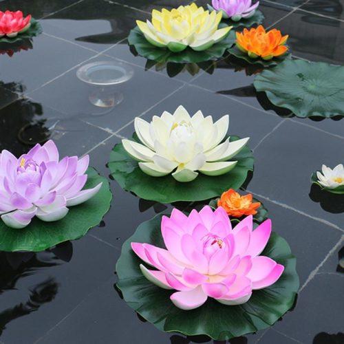 Artificial Water Lilies Pond Decoration (5Pcs.)