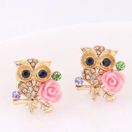 Owl Earrings Elegant Stud Earrings